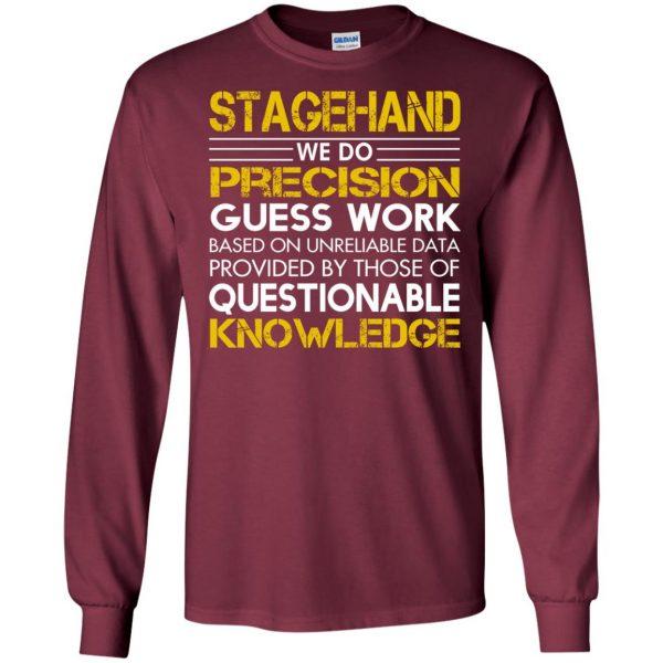 stagehand long sleeve - maroon