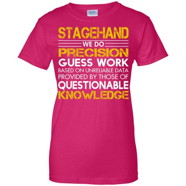stagehand womens t shirt - lady t shirt - pink heliconia