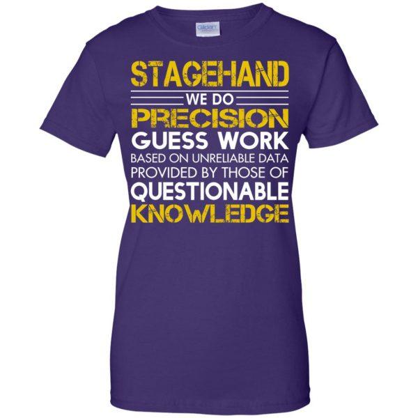 stagehand womens t shirt - lady t shirt - purple