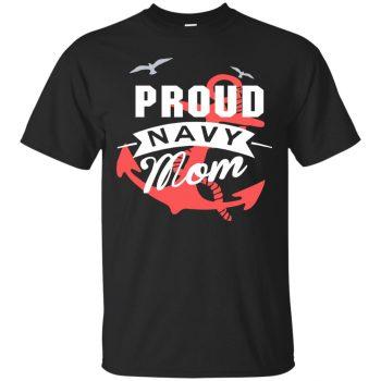 navy mom hoodie - black