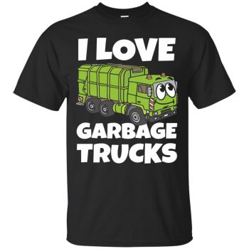 garbage truck t shirt - black