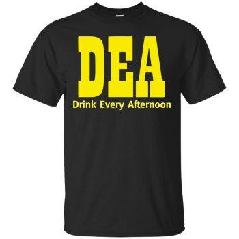 drink every afternoon t shirt - black