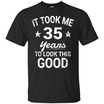 35th birthday t shirts - black
