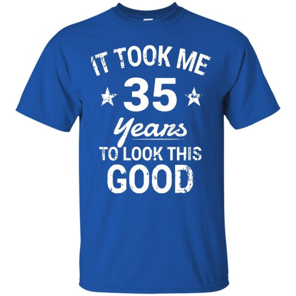 35th birthday t shirt - royal blue