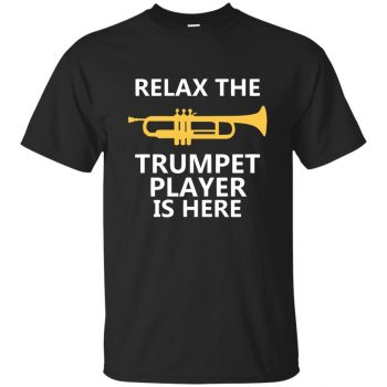 trumpet player t shirts - black