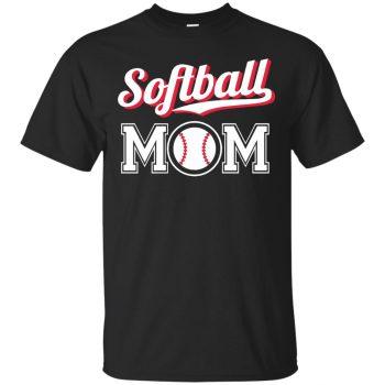 softball mom hoodies - black