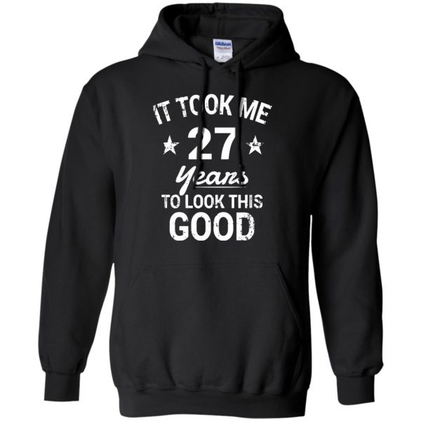 27th birthday hoodie - black