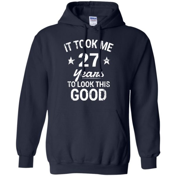 27th birthday hoodie - navy blue