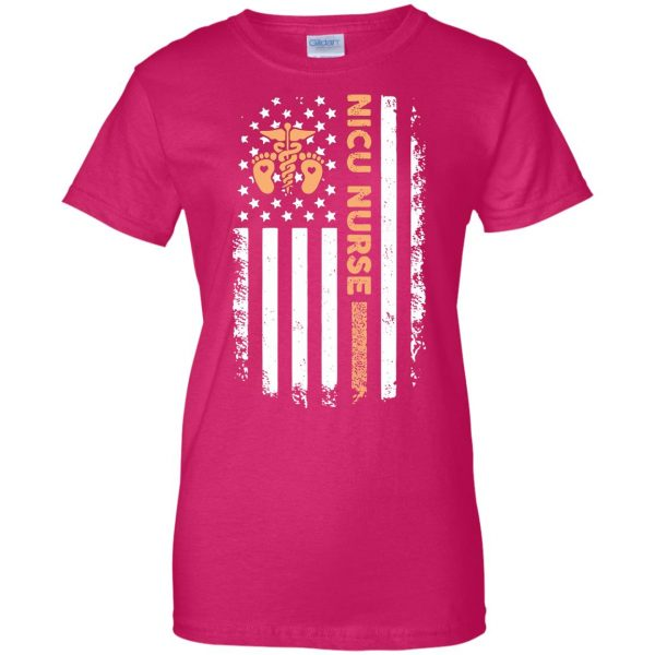nicu nurse womens t shirt - lady t shirt - pink heliconia