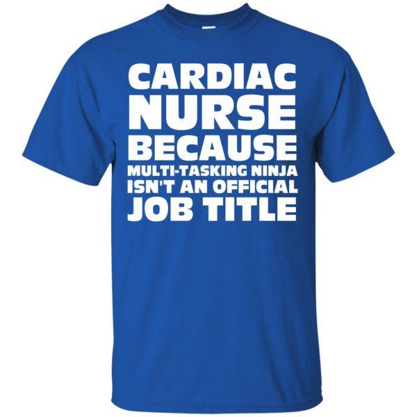 cardiac nurse t shirt - royal blue