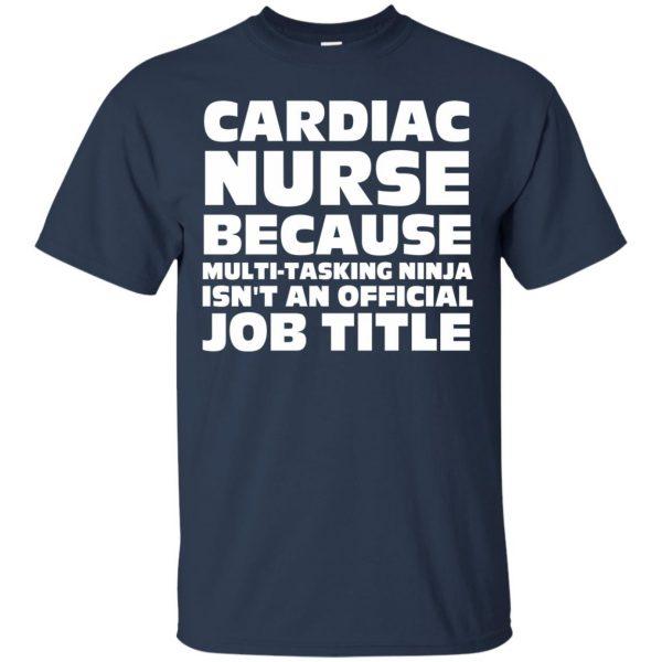 cardiac nurse t shirt - navy blue