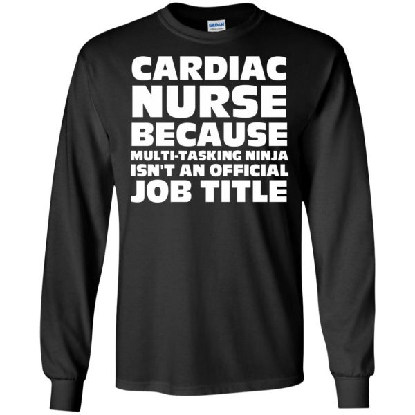 cardiac nurse long sleeve - black