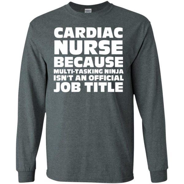 cardiac nurse long sleeve - dark heather