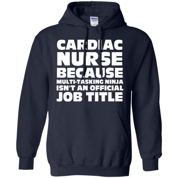 cardiac nurse hoodie - navy blue