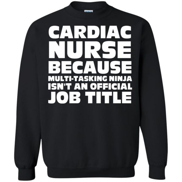 cardiac nurse sweatshirt - black
