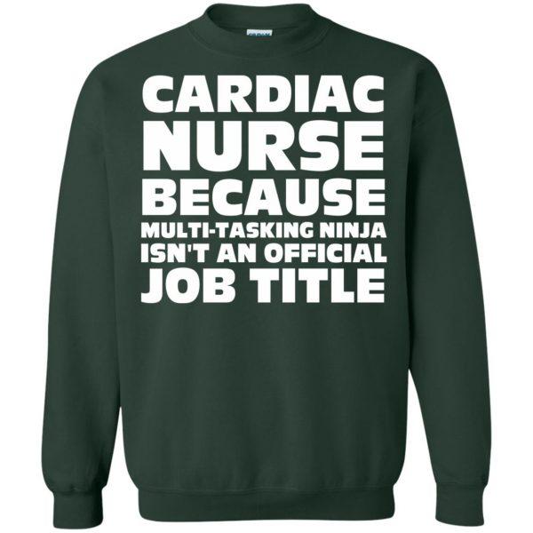 cardiac nurse sweatshirt - forest green