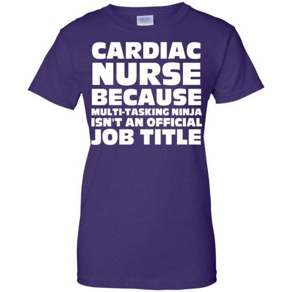 cardiac nurse womens t shirt - lady t shirt - purple