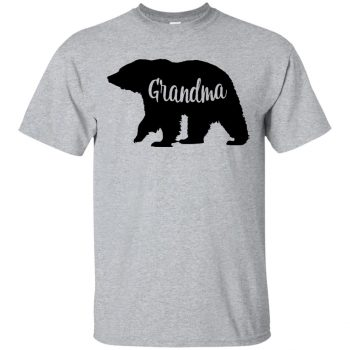 grandma bear shirt - sport grey