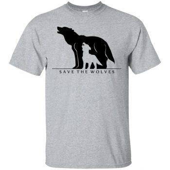 save the wolves shirt - sport grey