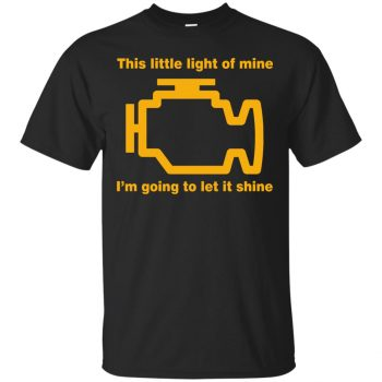 check engine light shirt - black