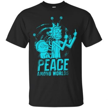 peace among worlds shirt - black