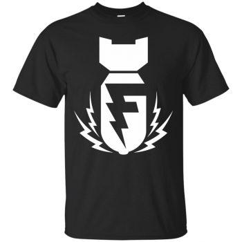 f bomb t shirt - black