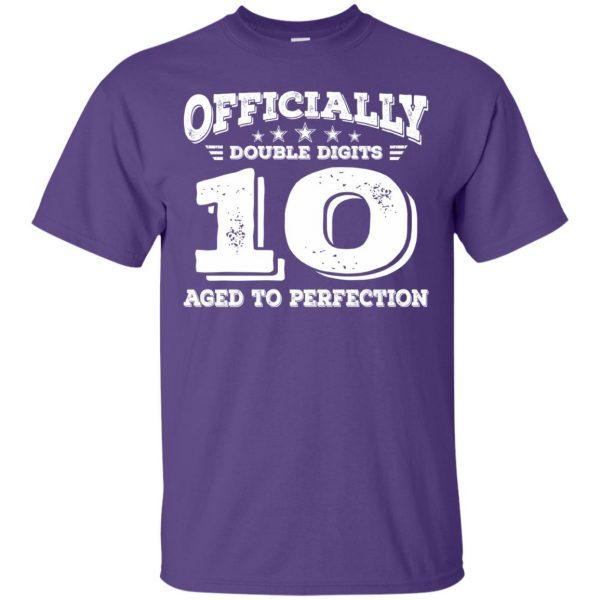 double digits birthday shirt t shirt - purple