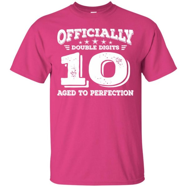 double digits birthday shirt t shirt - pink heliconia