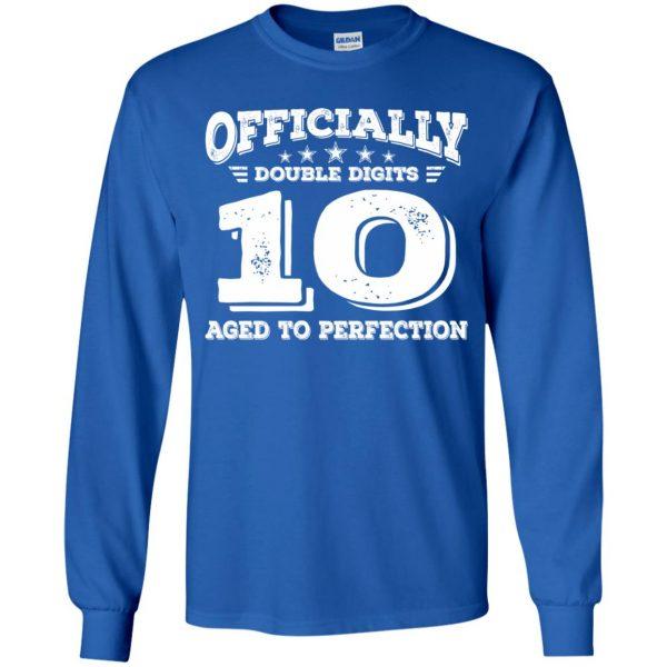 double digits birthday shirt kids long sleeve - royal blue