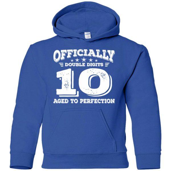 double digits birthday shirt kids hoodie - royal blue