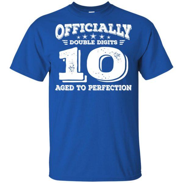 double digits birthday shirt kids t shirt - royal blue