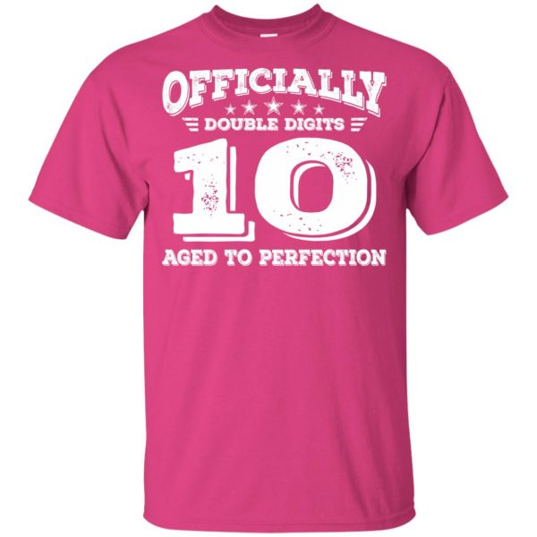 double digits birthday shirt kids t shirt - pink heliconia