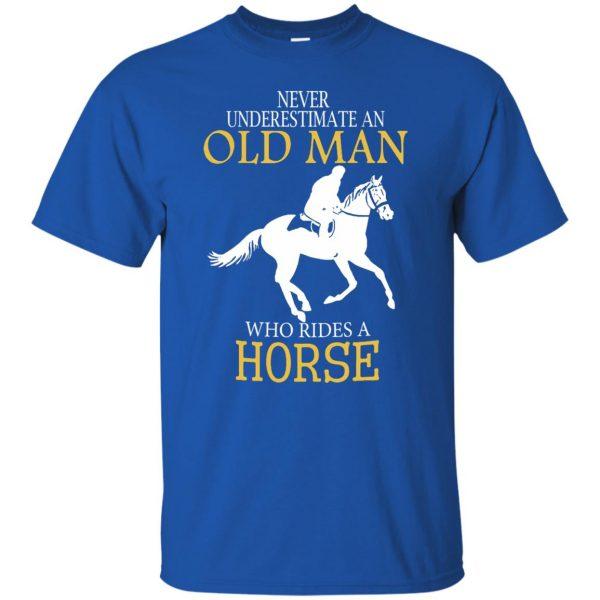 horse riding man shirt t shirt - royal blue