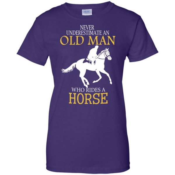 horse riding man shirt womens t shirt - lady t shirt - purple