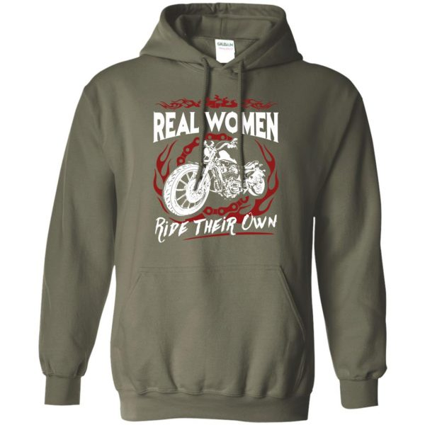 biker chick t shirts hoodie - military green