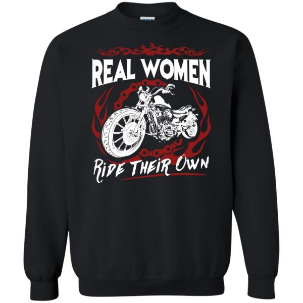 biker chick t shirts sweatshirt - black