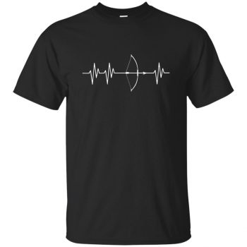 Bow Hunting Heartbeat - black
