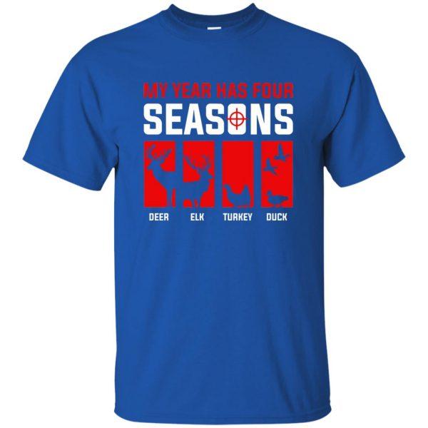 Four Seasons Of Hunting t shirt - royal blue