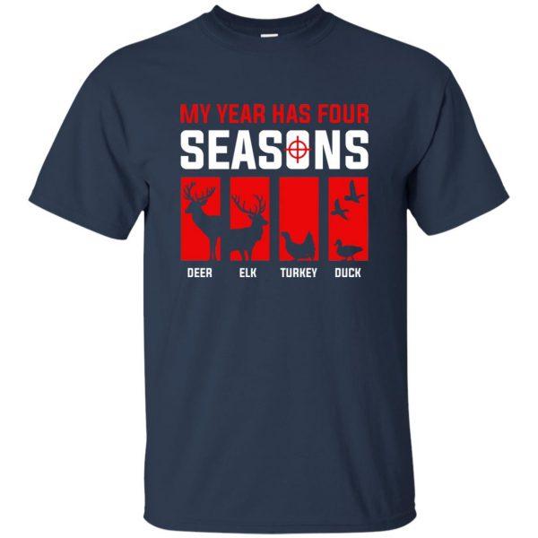 Four Seasons Of Hunting t shirt - navy blue