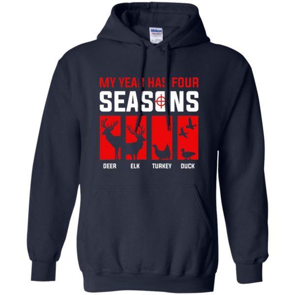 Four Seasons Of Hunting hoodie - navy blue