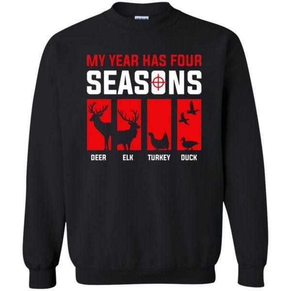 Four Seasons Of Hunting sweatshirt - black