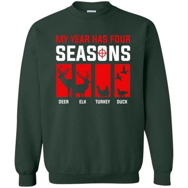 Four Seasons Of Hunting sweatshirt - forest green