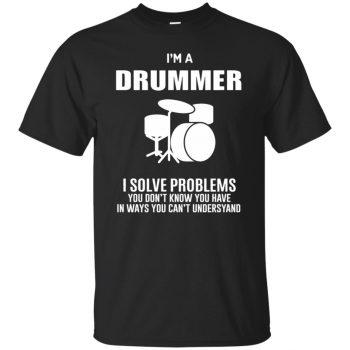 I'm A Drummer - black