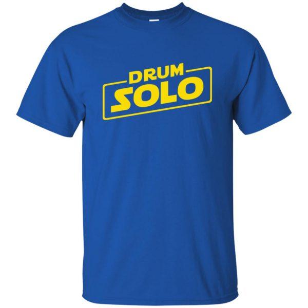 DRUM SOLO t shirt - royal blue
