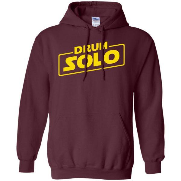 DRUM SOLO hoodie - maroon