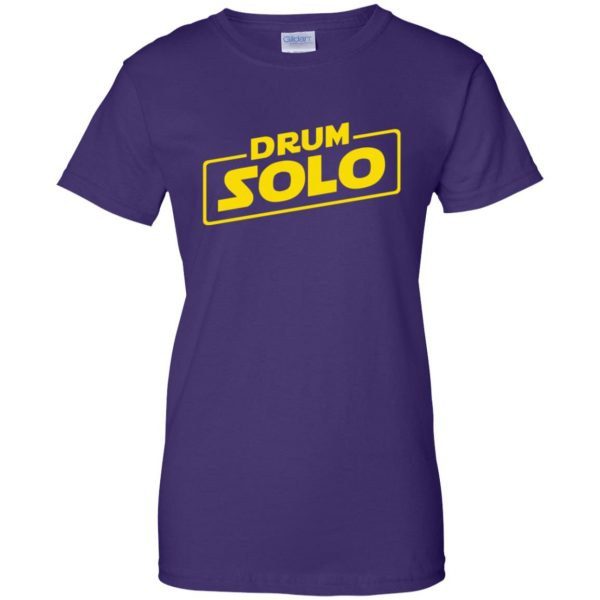 DRUM SOLO womens t shirt - lady t shirt - purple
