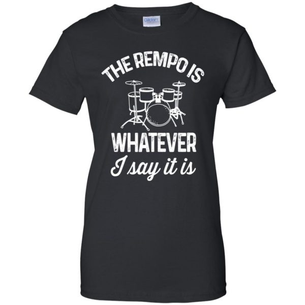 The tempo is whatever I say It is womens t shirt - lady t shirt - black