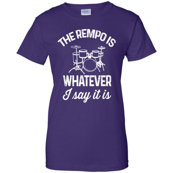 The tempo is whatever I say It is womens t shirt - lady t shirt - purple