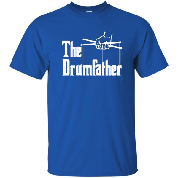 The Drumfather t shirt - royal blue