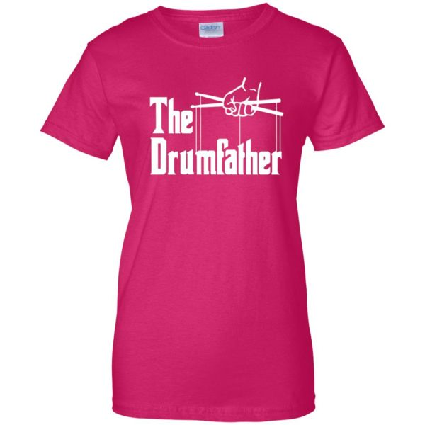 The Drumfather womens t shirt - lady t shirt - pink heliconia